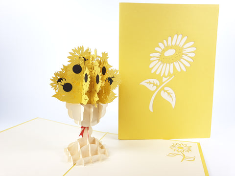 Large Sunflower Pop Up Card