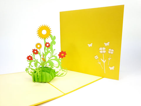 Sunflower Colorful Pop Up Card