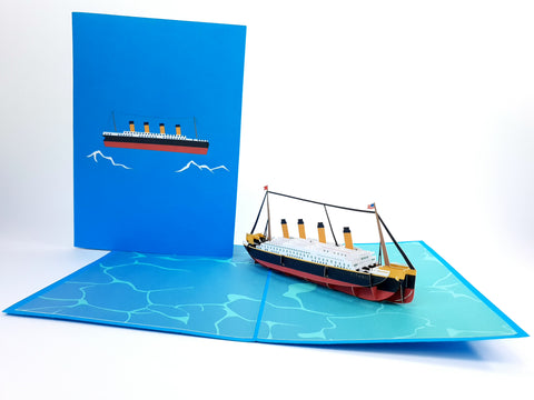 Titanic Cruize Boat Pop Up Card