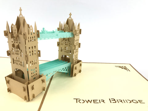 london tower bridge 3d pop up monument card