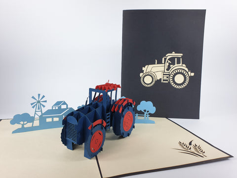 Farm Tractor Pop Up Card