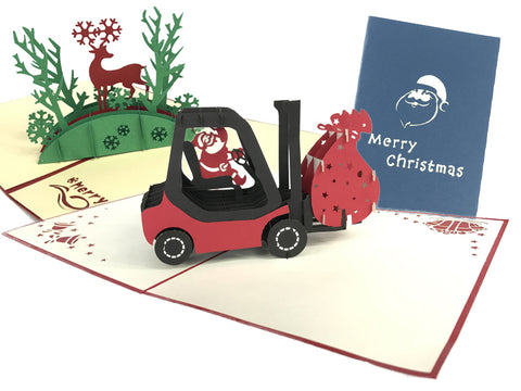 Santa's Pop Up Cards Pack