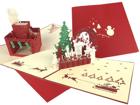 Christmas Pop Up Cards Pack