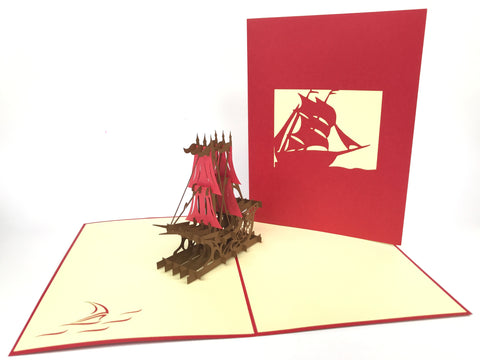 Viking Boat Pop Up Card