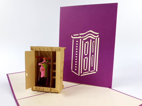 Wardrobe Pop Up Card