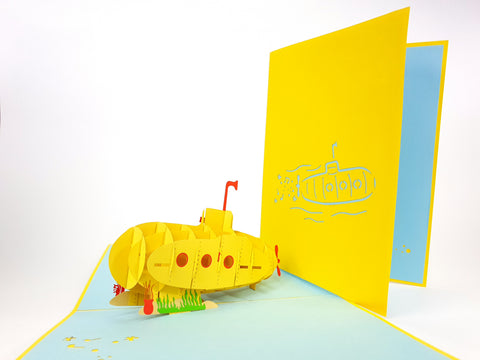 Yellow Submarine Pop Up Card