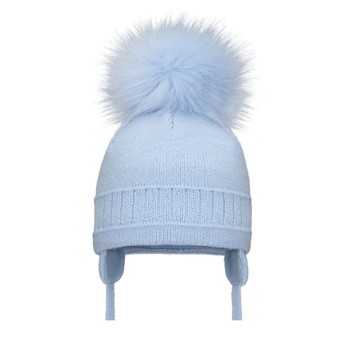 Single Cable Hat - Blue
