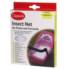 Pram/Carrycot Insect Net - White