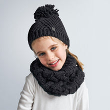 Girls Grey Chunky Knit Snood - 10889