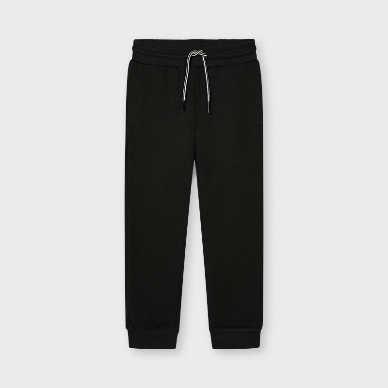 Boys Black Cotton Joggers - 742