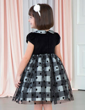 Black Velvet & Tulle Dress 5534