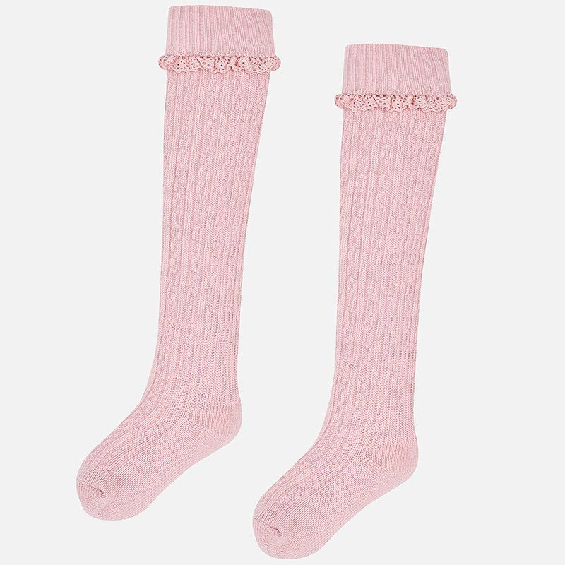 Girls Knee High Socks - Pink