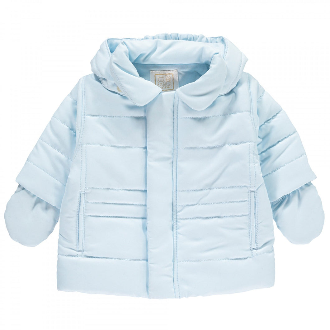 Pale Blue Jacket with Mits - Neil