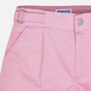 Girls Pink Cotton Shorts - 3273