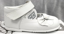 Girls White Leather Shoe - Palma