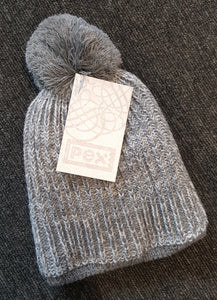 Boys Grey Pom-Pom Hat