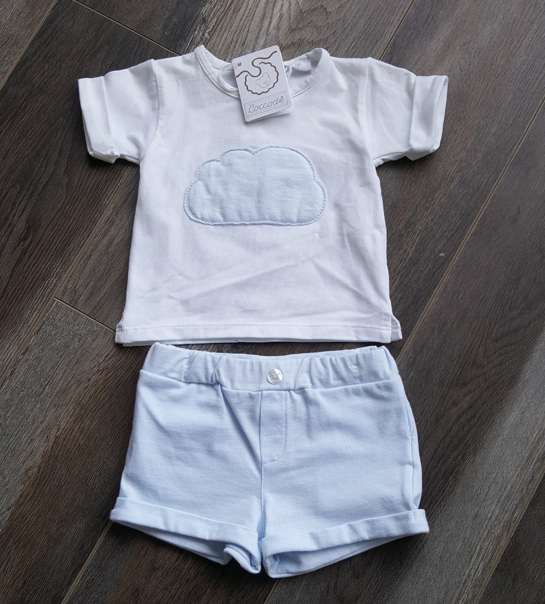 Cloud Shorts Set - Blue