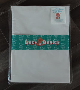 Fitted Pram/Crib Sheet - White