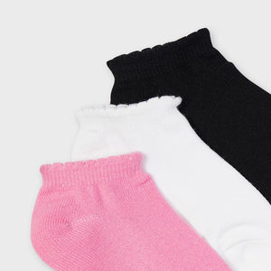 Girls 3 Pack Trainer Socks (Pink) - 10058