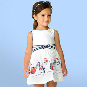 Girls Handbag Print Dress