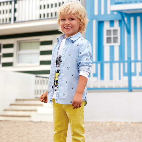 Boys Slim Fit Cotton Trousers