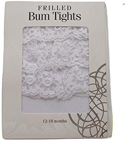 White Frilled Bum Tights
