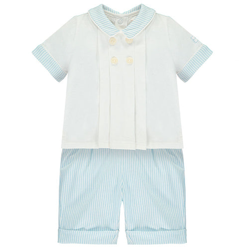 Boys Pleated Top & Shorts Set -  Sergio