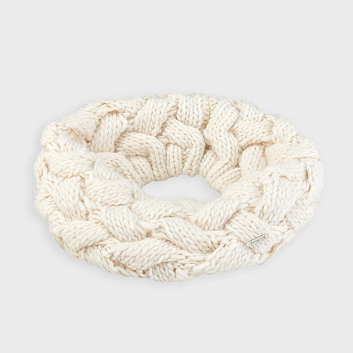 Girls Ivory Chunky Knit Snood - 10889