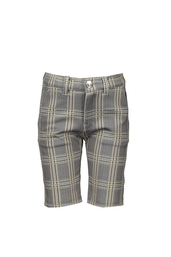 Boys Navy Checked Shorts