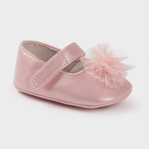 Blush Mary Jane Pram Shoes - 9403