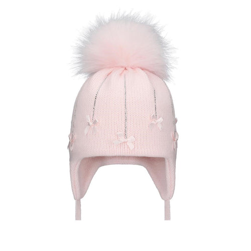 Falling Bow Pink Hat