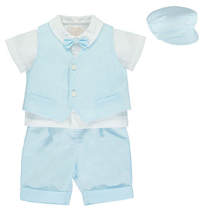 Pale Blue Linen Outfit - Perry