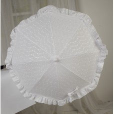 White Broderie Anglaise Parasol - Sun Shade