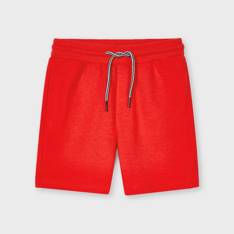 Boys Red Jersey Shorts - 611