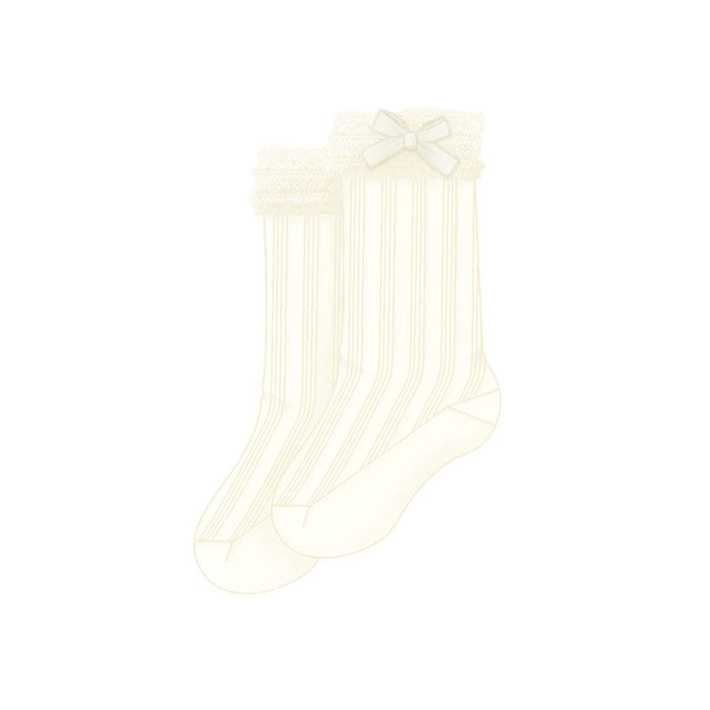 Baby Girls Ivory Knee High Socks