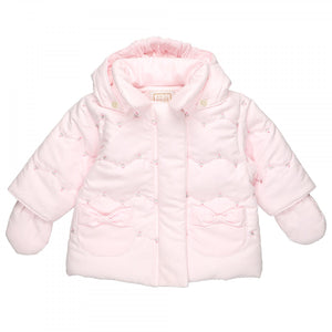 Baby Girls Pink Winter Jacket - Riva
