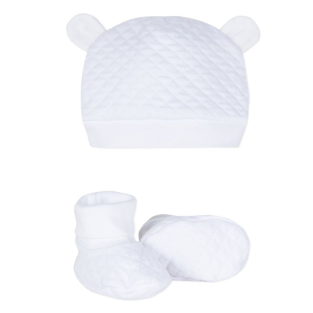 Baby Cotton Hat & Bootie Set