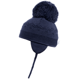 Belle - Navy Big Pom Hat