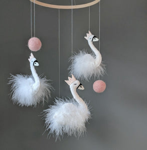 Nursery Mobile - Swan Queen's