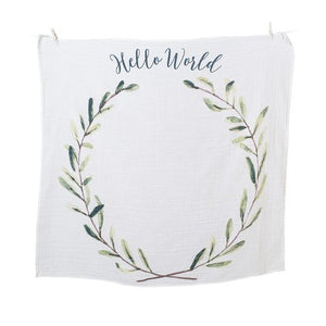 Milestone Blanket & Cards Set - Hello World