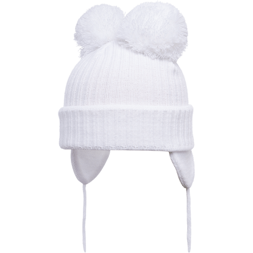 Minnie - White Double Pom-Pom Hat