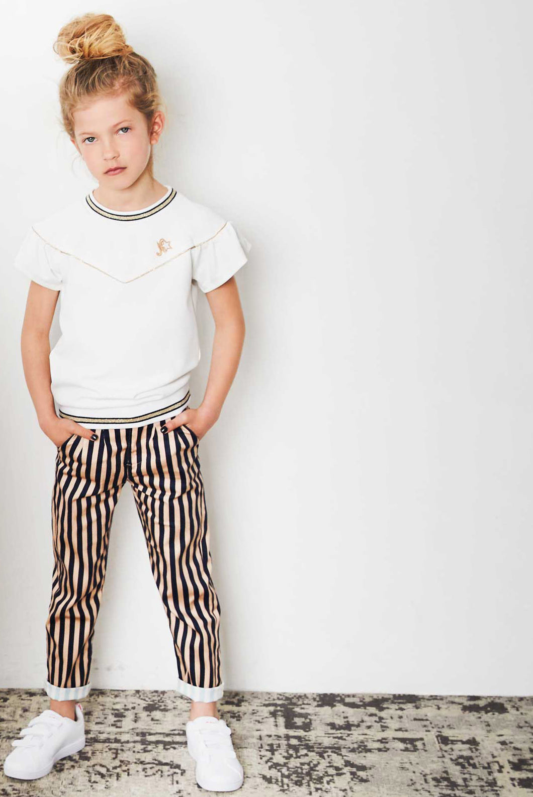 Girls Striped Trouser - Sheck