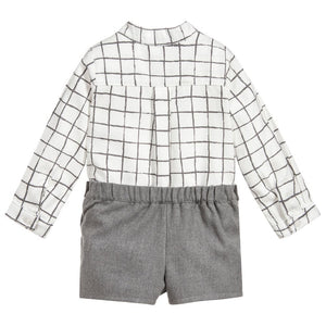 Boys Grey Shorts Set