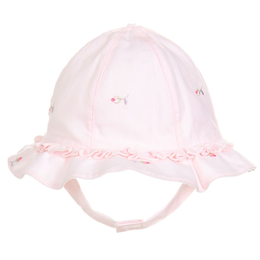 Baby Girls Pink Sun Hat - Patricia