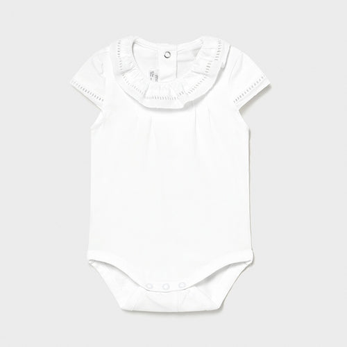 Baby Girls White Bodyvest - 1792