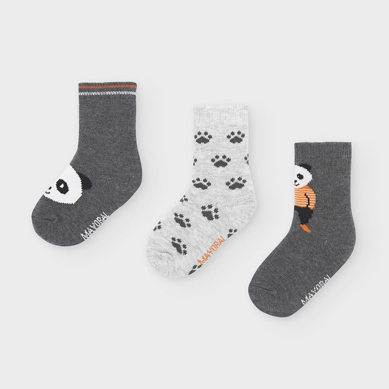 Grey Cotton Socks (3 pack) - 10832