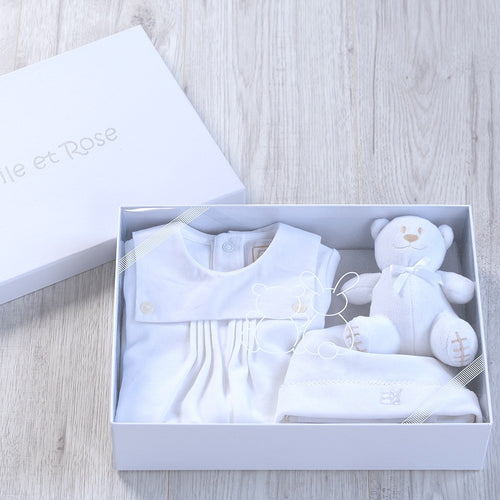 New Baby Ivory Cotton Gift Set