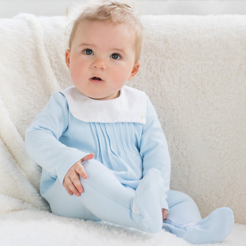 Nico - Pale Blue Babygrow (Tiny Baby)