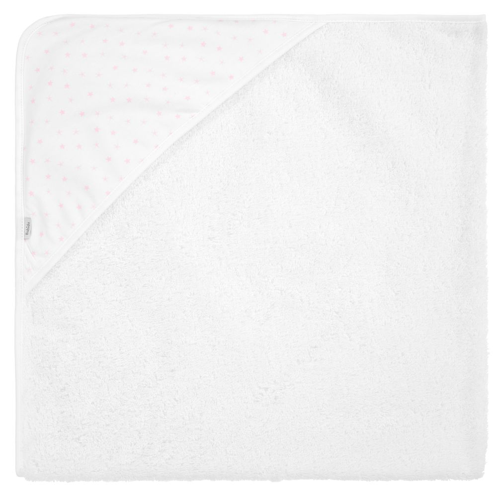 White Cotton Hooded Towel