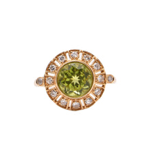 Round Peridot and Diamond Dress Ring